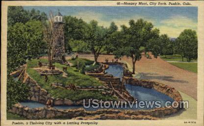 Monkey Moat, City Park - Pueblo, Colorado CO Postcard