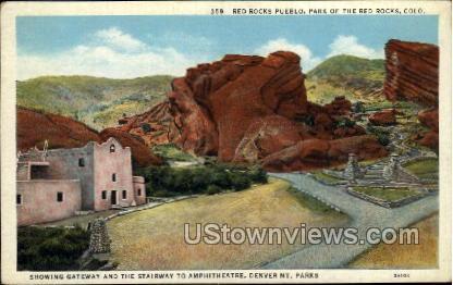 Red Rocks Pueblo - Colorado CO Postcard