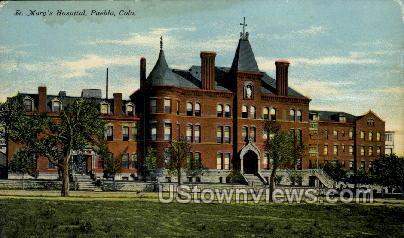 St. Mary's Hospital - Pueblo, Colorado CO Postcard