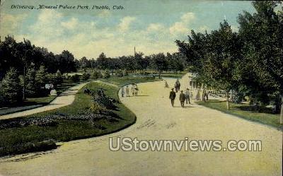 Driveway, Mineral Palace Park - Pueblo, Colorado CO Postcard
