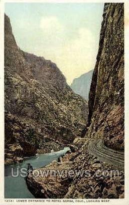 Royal Gorge Lower Entrance  - Misc, Colorado CO Postcard