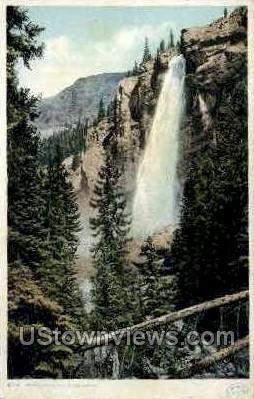 Bridal Veil Falls - Misc, Colorado CO Postcard