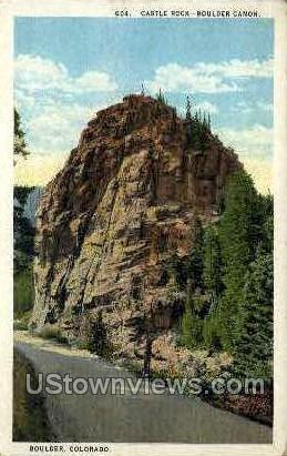 Castle Rock  - Boulder Canon, Colorado CO Postcard