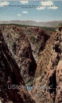 Top of Royal Gorge - Canon City, Colorado CO Postcard