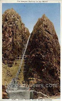 The Incline, Royal Gorge - Canon City, Colorado CO Postcard