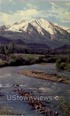 Mt. Sopris & Crystal River - Misc, Colorado CO Postcard