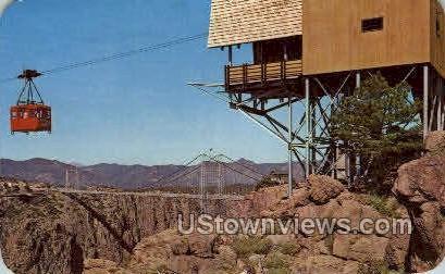 Aerial Tramway - Canon City, Colorado CO Postcard