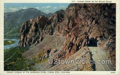 Tunnel Drive - Canon City, Colorado CO Postcard