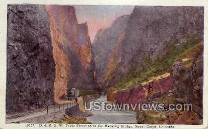 D. & R. G. W. Train  - Canon City, Colorado CO Postcard