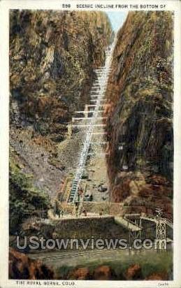 Incline Railway, Royal Gorge - Canon City, Colorado CO Postcard