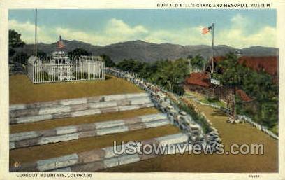 Buffalo Bills Grave - Lookout Mt, Colorado CO Postcard