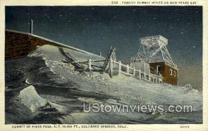Summit House, Pikes Peak - Colorado Springs Postcards, Colorado CO Postcard
