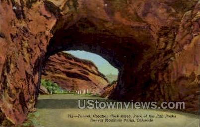 Tunnel, Creation Rock Drive - Denver Mountain Parks, Colorado CO Postcard