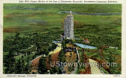Will Rogers Shrine - Colorado Springs Postcards, Colorado CO Postcard