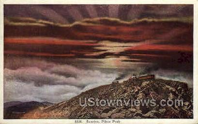 Sunrise on Pikes Peak - Colorado Springs Postcards, Colorado CO Postcard
