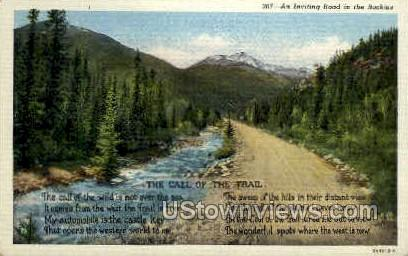 The Call of the Trail - Misc, Colorado CO Postcard