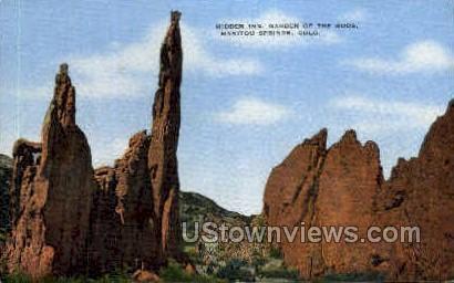 Hiddine Inn - Colorado Springs Postcards, Colorado CO Postcard