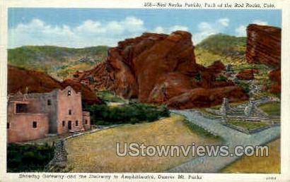 Red Rocks - Pueblo, Colorado CO Postcard