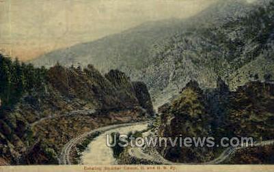 . - Boulder Canon, Colorado CO Postcard