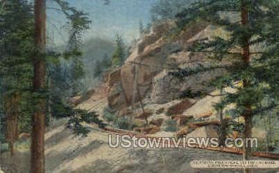 The Cog Road - Colorado Springs Postcards, Colorado CO Postcard