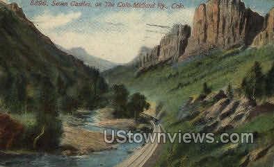 Seven Castles - Misc, Colorado CO Postcard