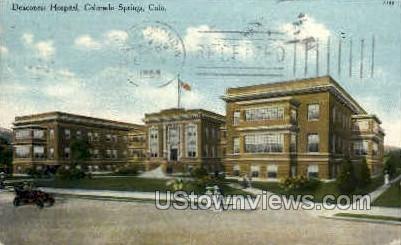 Deaconess Hospital - Colorado Springs Postcards, Colorado CO Postcard