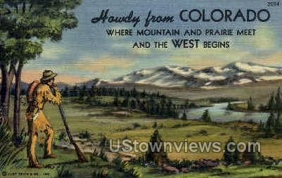 Howdy From - Misc, Colorado CO Postcard