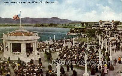 Band Stand at Lakeside - White City, Colorado CO Postcard