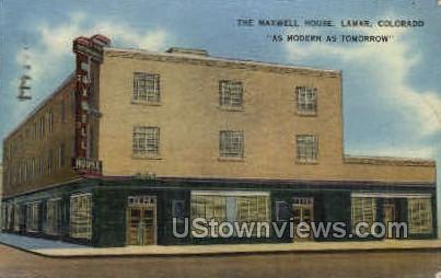 The Maxwell House - Lamar, Colorado CO Postcard