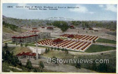 America Sanatorium - Colorado Springs Postcards, Colorado CO Postcard