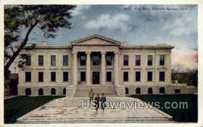 City Hall - Colorado Springs Postcards, Colorado CO Postcard