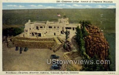 Cheyenne Lodge - Colorado Springs Postcards, Colorado CO Postcard