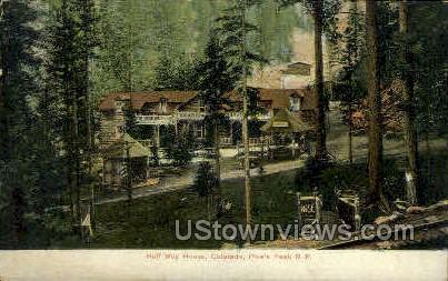 Pikes Peak Cog Road - Colorado Springs Postcards, Colorado CO Postcard