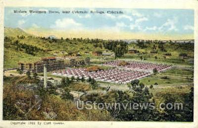 Modern Woodmen Home - Colorado Springs Postcards, Colorado CO Postcard