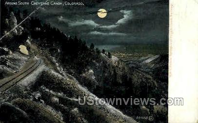 Around South Cheyenne Canyon - Colorado Springs Postcards, Colorado CO Postcard