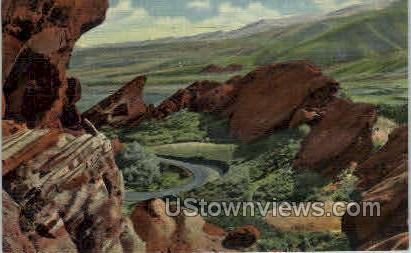 Park of the Red Rocks - Pueblo, Colorado CO Postcard
