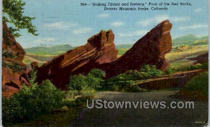 Park of the Red Rocks - Denver Mountain Parks, Colorado CO Postcard