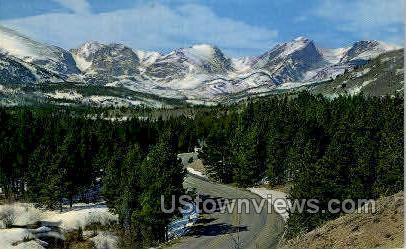 Eternal Snow in Rockies - Misc, Colorado CO Postcard