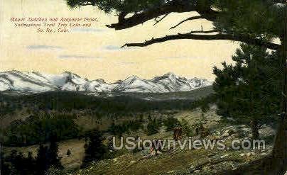 Arapahoe Peaks - Misc, Colorado CO Postcard