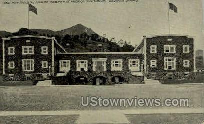 America Sanitarium - Colorado Springs Postcards, Colorado CO Postcard