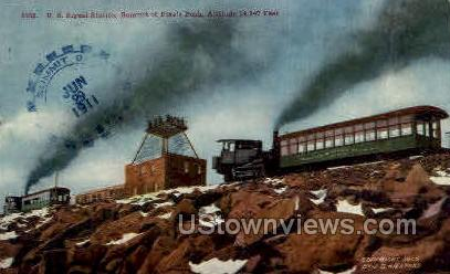 U.S. Signal Station - Colorado Springs Postcards, Colorado CO Postcard