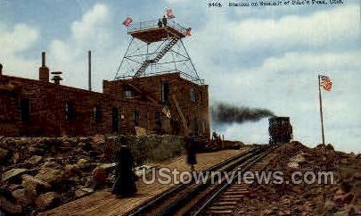 Station on Summit - Colorado Springs Postcards, Colorado CO Postcard