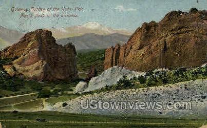 Garden of the Gods - Colorado Springs Postcards, Colorado CO Postcard