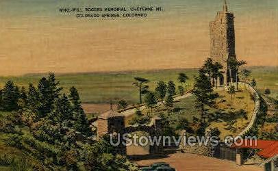 Will Rogers Memorial - Colorado Springs Postcards, Colorado CO Postcard