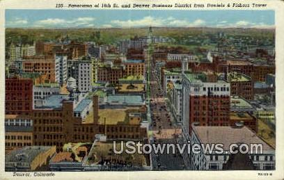 16th Street, Daniels & Fisher Tower - Denver, Colorado CO Postcard