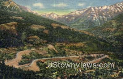 Million Dollar Highway - Misc, Colorado CO Postcard