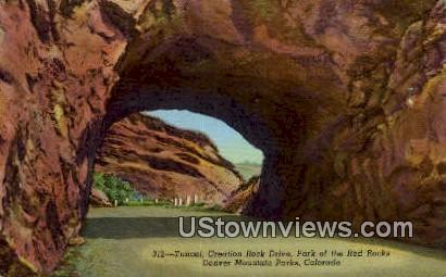 Creation Rock Drive, Red Rocks - Denver Mountain Parks, Colorado CO Postcard