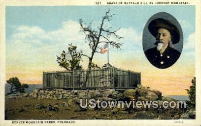 Grave of Buffalo Bill - Denver Mountain Parks, Colorado CO Postcard