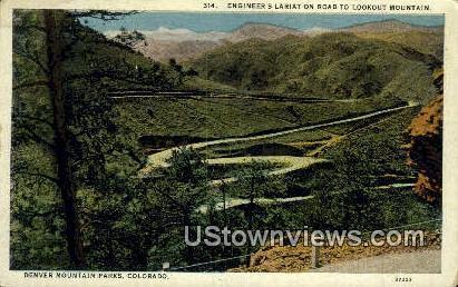 Lookout Mountain - Denver Mountain Parks, Colorado CO Postcard
