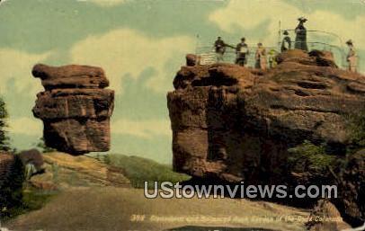 Balanced Rock - Garden of the Gods, Colorado CO Postcard